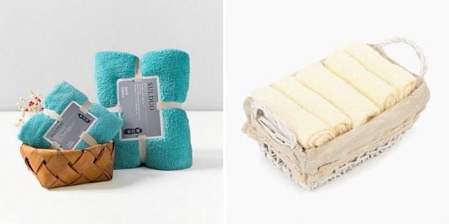 Что подарить на новоселье: набор полотенец