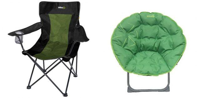 Лучшие подарки женщине на день рождения: раскладной стул