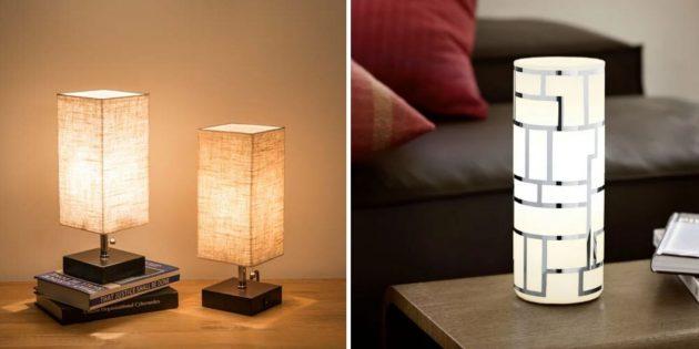 Лучшие подарки женщине на день рождения: прикроватная лампа
