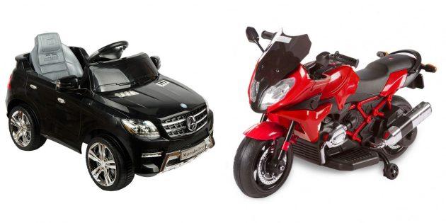 Что подарить девочке на 5лет на день рождения: электромобиль или мотоцикл