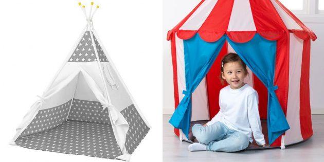 Что подарить девочке на 5лет на день рождения: игровая палатка
