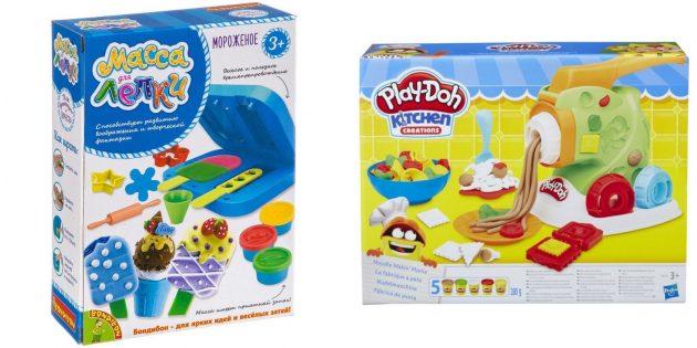 Подарки девочке на 5лет на день рождения: пластилин и инструменты для лепки