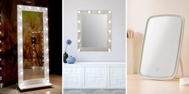Что подарить жене на день рождения: зеркало с подсветкой