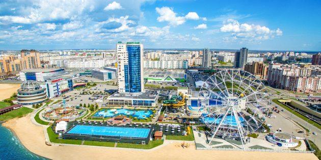 Достопримечательности Казани: аквапарк «Ривьера»