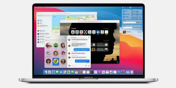 Apple представила macOS Big Sur с новым дизайном и переработанными приложениями