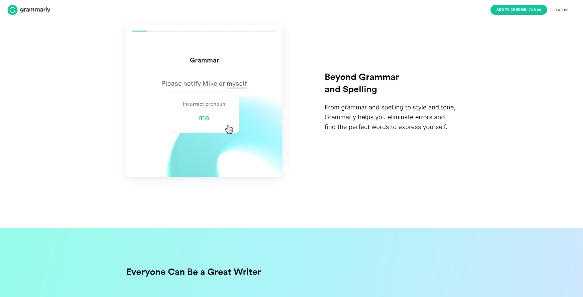 Проверка грамматики онлайн: Grammarly