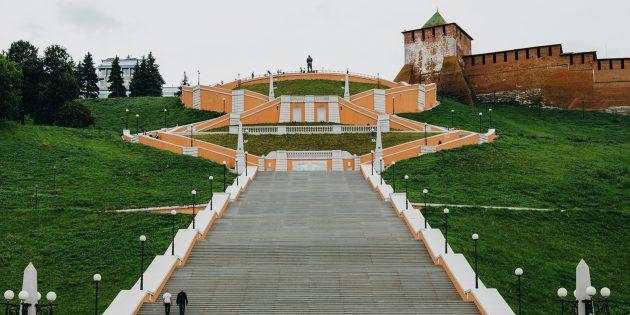 Что посмотреть в Нижнем Новгороде: Чкаловская лестница