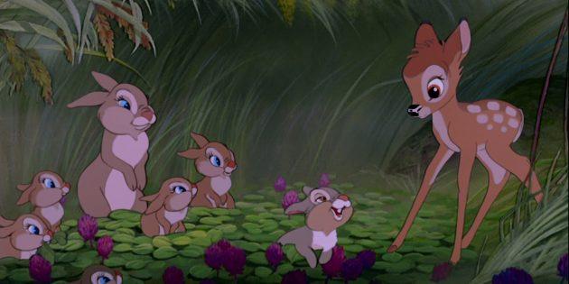 Мультфильмы про животных: «Бэмби»