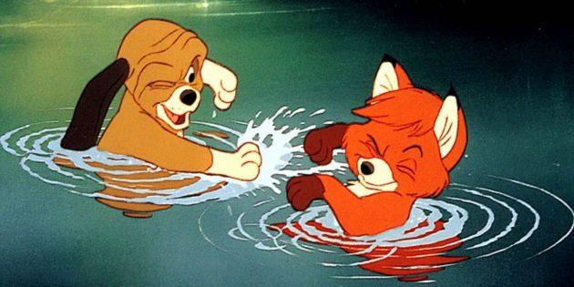Мультфильмы про животных: «Лис и пёс»