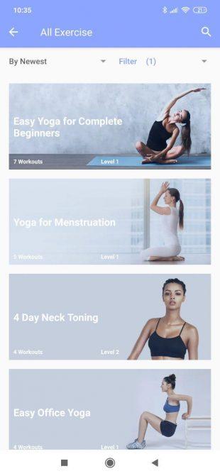 Приложения для йоги: Daily Yoga
