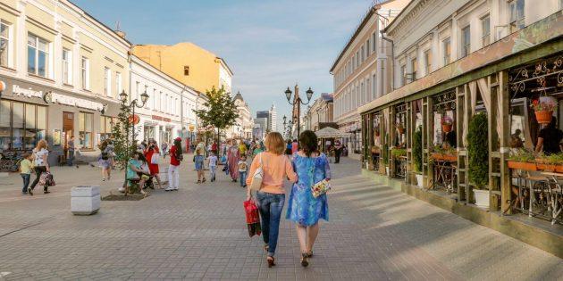 Куда сходить в Казани: улица Баумана