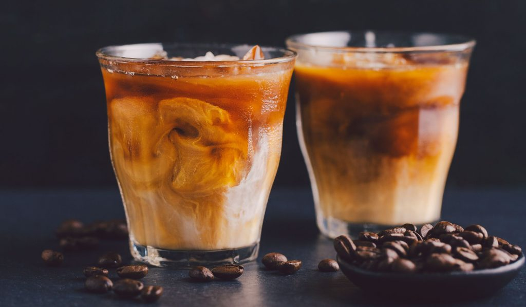 Iced coffee with salt and honey