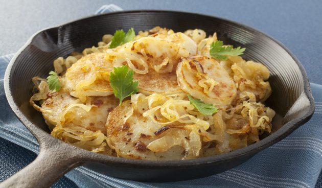 Вкусная жареная картошка по-лионски