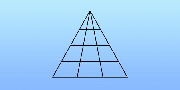Определите, сколько здесь треугольников