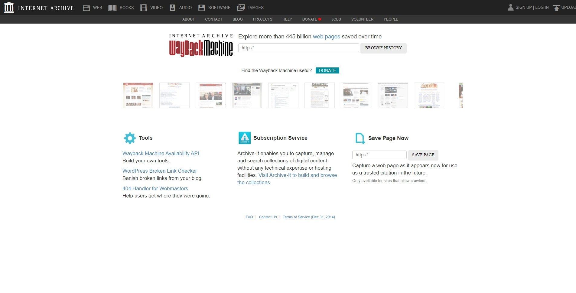 Wayback Machine (Web Archive)