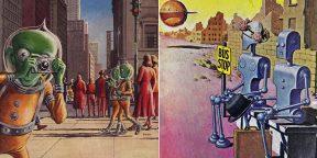 Каким видели мир будущего художники 20 века: 20 удивительных рисунков