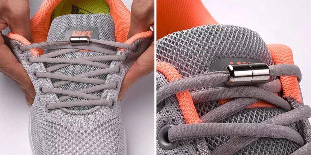 популярные товары: шнурки с замком
