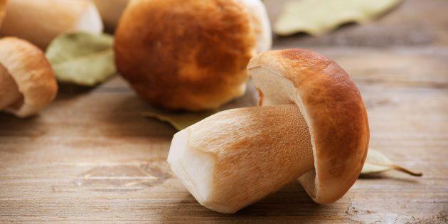 Как и сколько варить белые грибы: сырые белые грибы