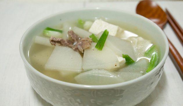 корейский суп с говядиной