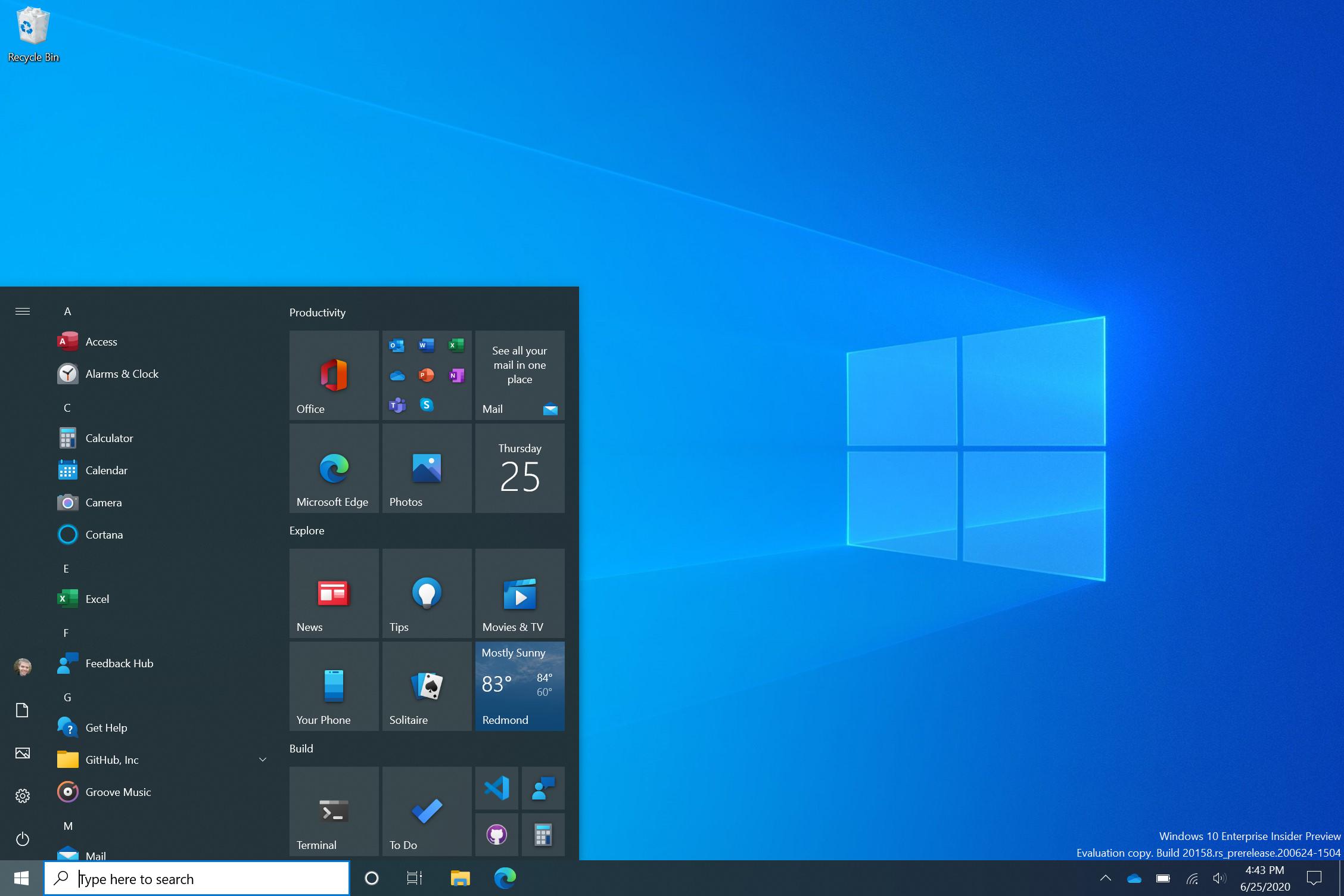 новый пуск windows 10