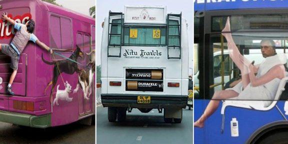 12 примеров по-настоящему крутой рекламы на автобусах