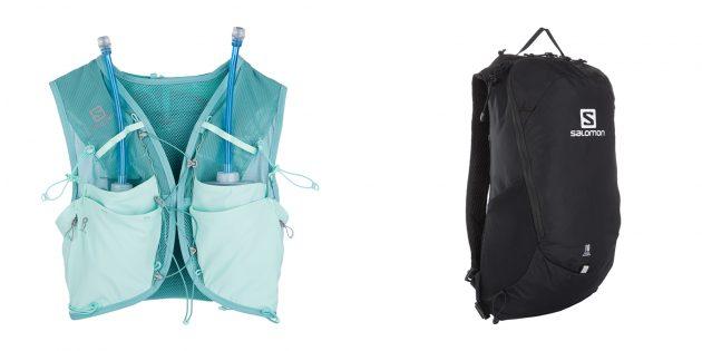 Аксессуары для бега: рюкзаки