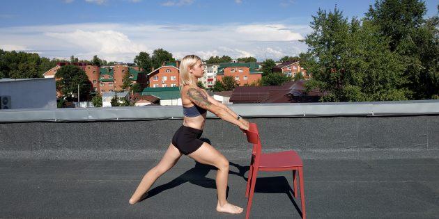 Простые упражнения йоги: поза воина I