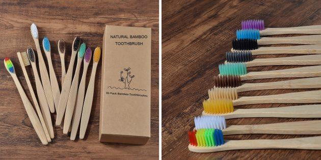 популярные товары: зубные щётки