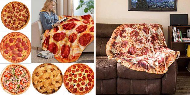 Странные вещи с AliExpress: плед в виде пиццы