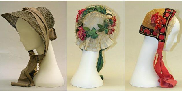 Женские головные уборы 1860–1861 годов