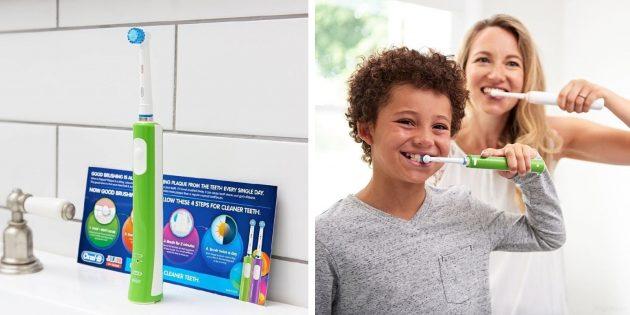 электрические зубные щетки: Braun Oral-B Junior