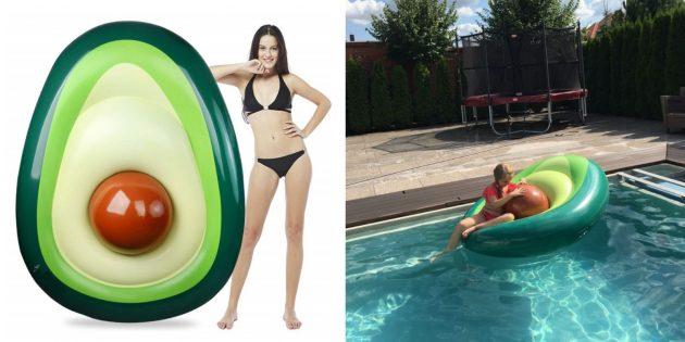 Надувной матрас-авокадо