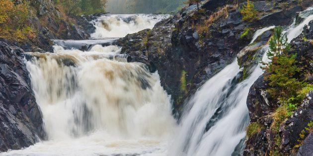 Самые красивые места России: Водопад Кивач