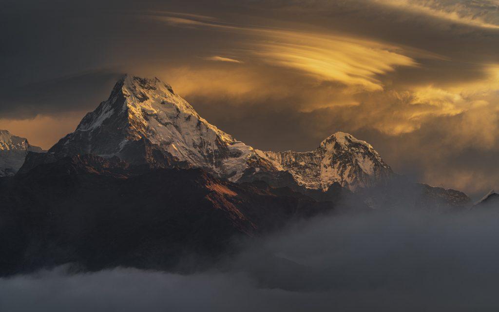 «Золотое свечение — Аннапурна Южная, Непал», Джесси Литтл