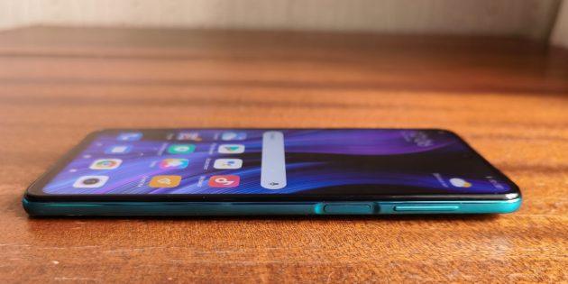 Redmi Note 9Pro: клавиши громкости и кнопка включения со сканером отпечатков