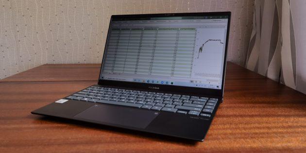Быстродействие ASUS ZenBook 13 UX325
