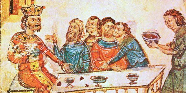 Викинги пили вино из черепов своих врагов