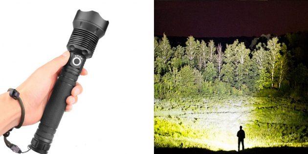 необычные гаджеты: мощный фонарь XLamp XHP70.2