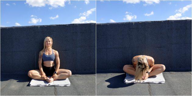 Простые упражнения йоги: поза связанного угла