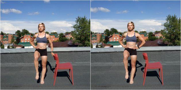Простые упражнения йоги: поза на баланс