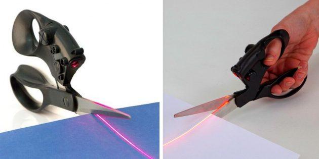 необычные гаджеты: ножницы с лазером