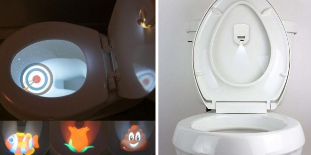 необычные гаджеты: подсветка для унитаза