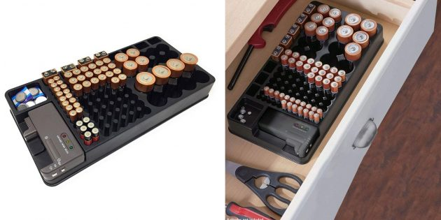 Органайзер для хранения батареек