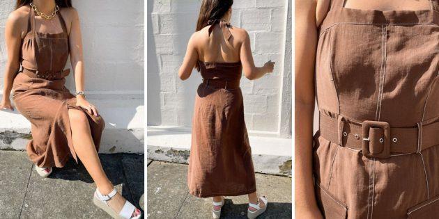 Платье с завязкой на шее