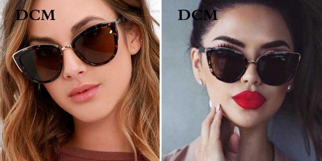 Женская пляжная одежда: солнцезащитные очки