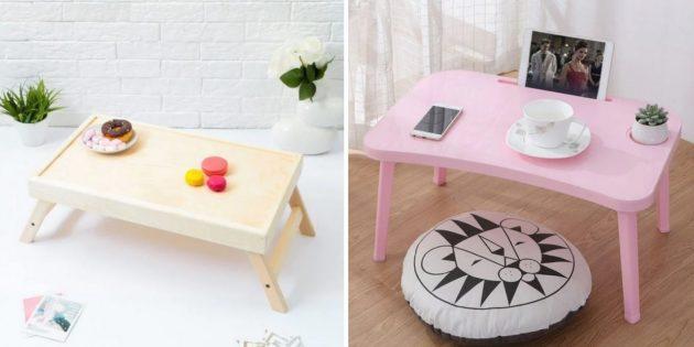 Подарки на свадьбу: столик для завтраков в постели