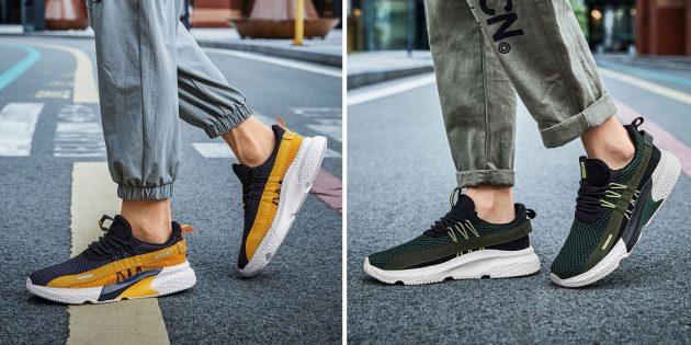 Контрастные кроссовки на осень