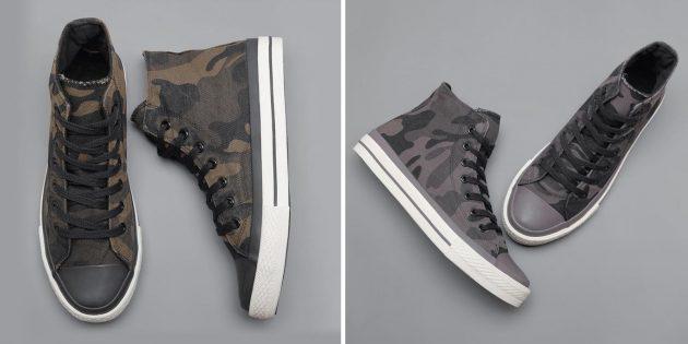 Камуфляжные кроссовки на осень