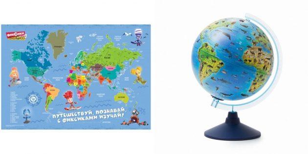 Подарки мальчику на 5лет на день рождения: карта мира или глобус