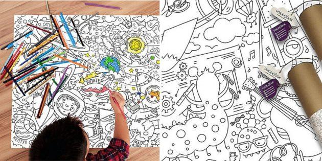Раскраска и карандаши